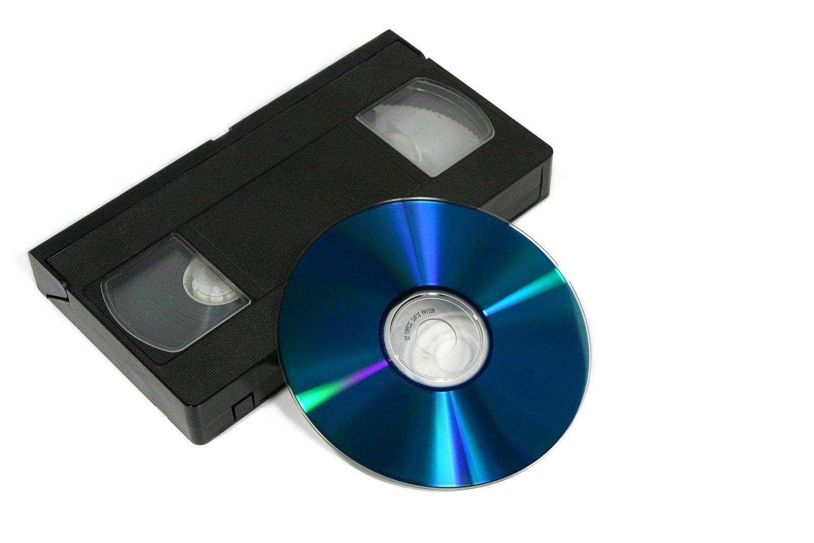 cassette vhs sur dvd