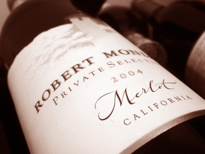 une étiquette de vin