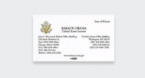 On Peut Supposer Que La Carte Du Senateur Barack Obama A Pris Davantage De Valeur Lorsque Ce Dernier Est Devenu Le Premier President Noir Des Etats Unis
