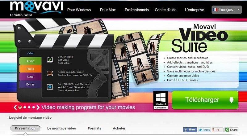 Movavi Video Suite est un logiciel de montage vidéo