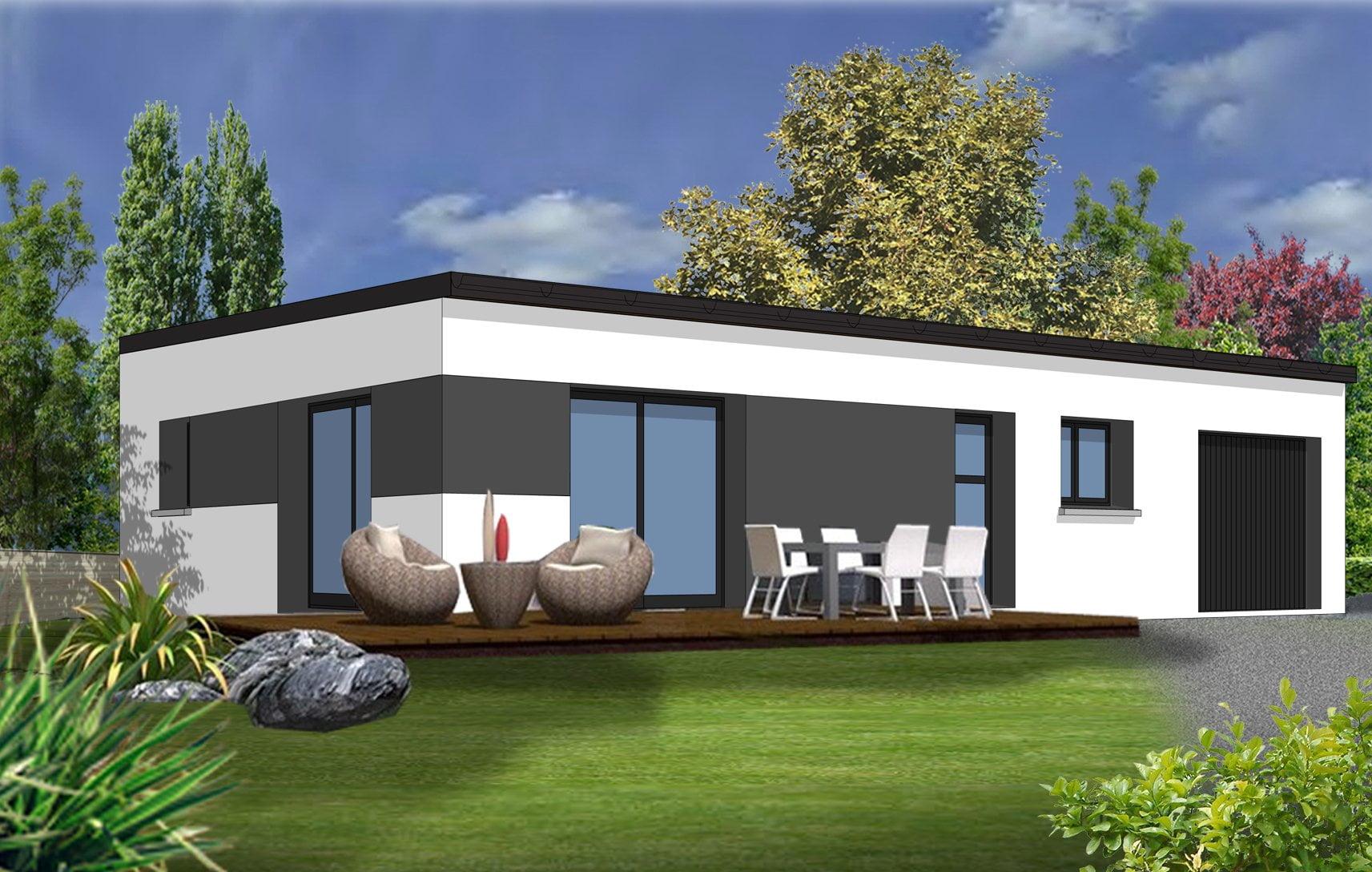 les atouts d une maison de plain pied axonpost. Black Bedroom Furniture Sets. Home Design Ideas