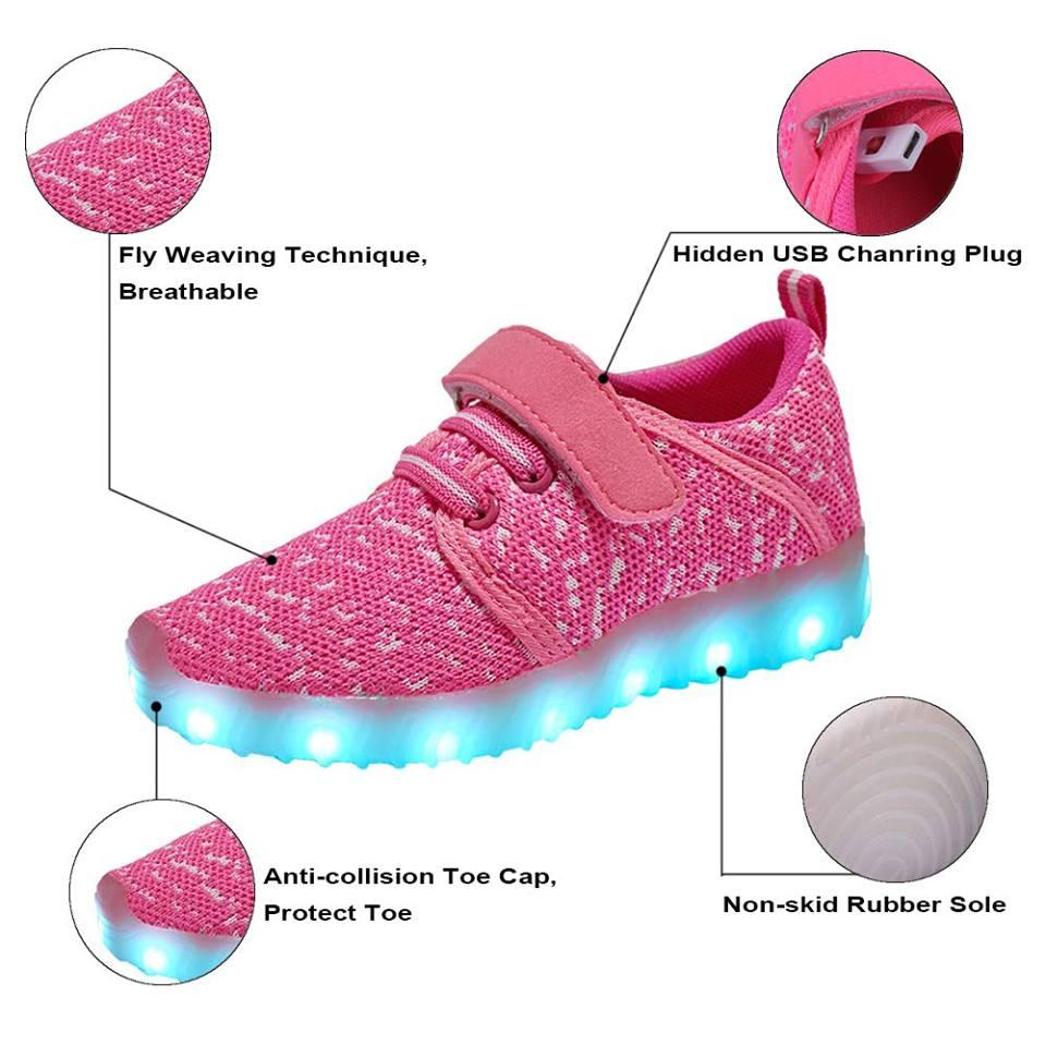 Chaussure lumineuse USB